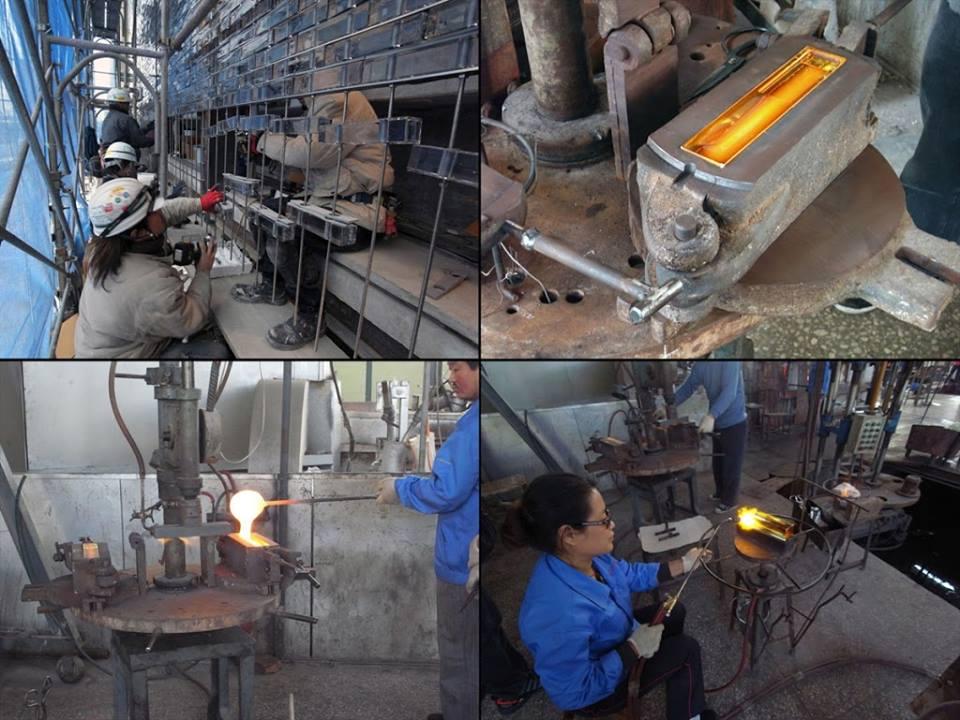 Xưởng sản xuất gạch kính