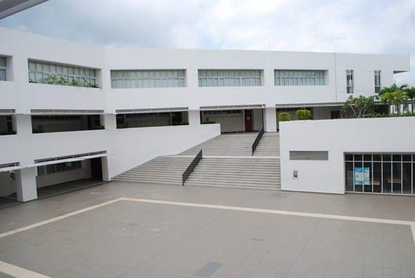 Kết cấu không gian sân trường rộng rãi.