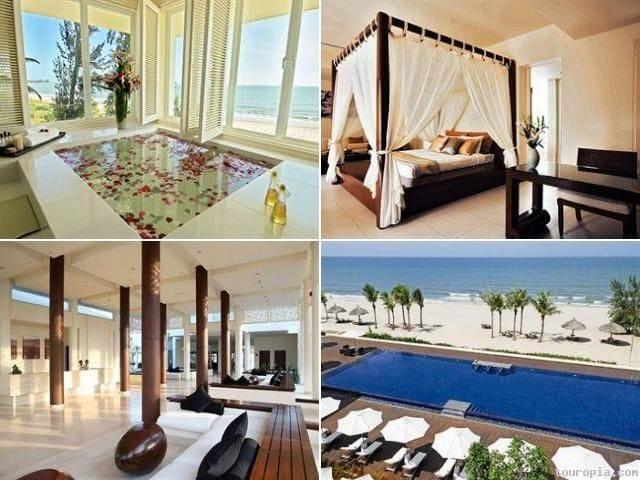Princess d'Annam Resort & Spa (Bình Thuận): Khu nghỉ dưỡng cao cấp tọa lạc ở mũi Kê Gà, có vẻ đẹp độc đáo nhờ sự kết hợp giữa kiến trúc Pháp và kiến trúc phương Đông truyền thống. Resort này gồm 57 biệt thự nằm giữa không gian yên tĩnh. Ảnh: Princess d'Annam Resort & Spa.