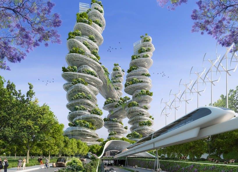 Các tháp vườn bao gồm ba cấu trúc kết nối