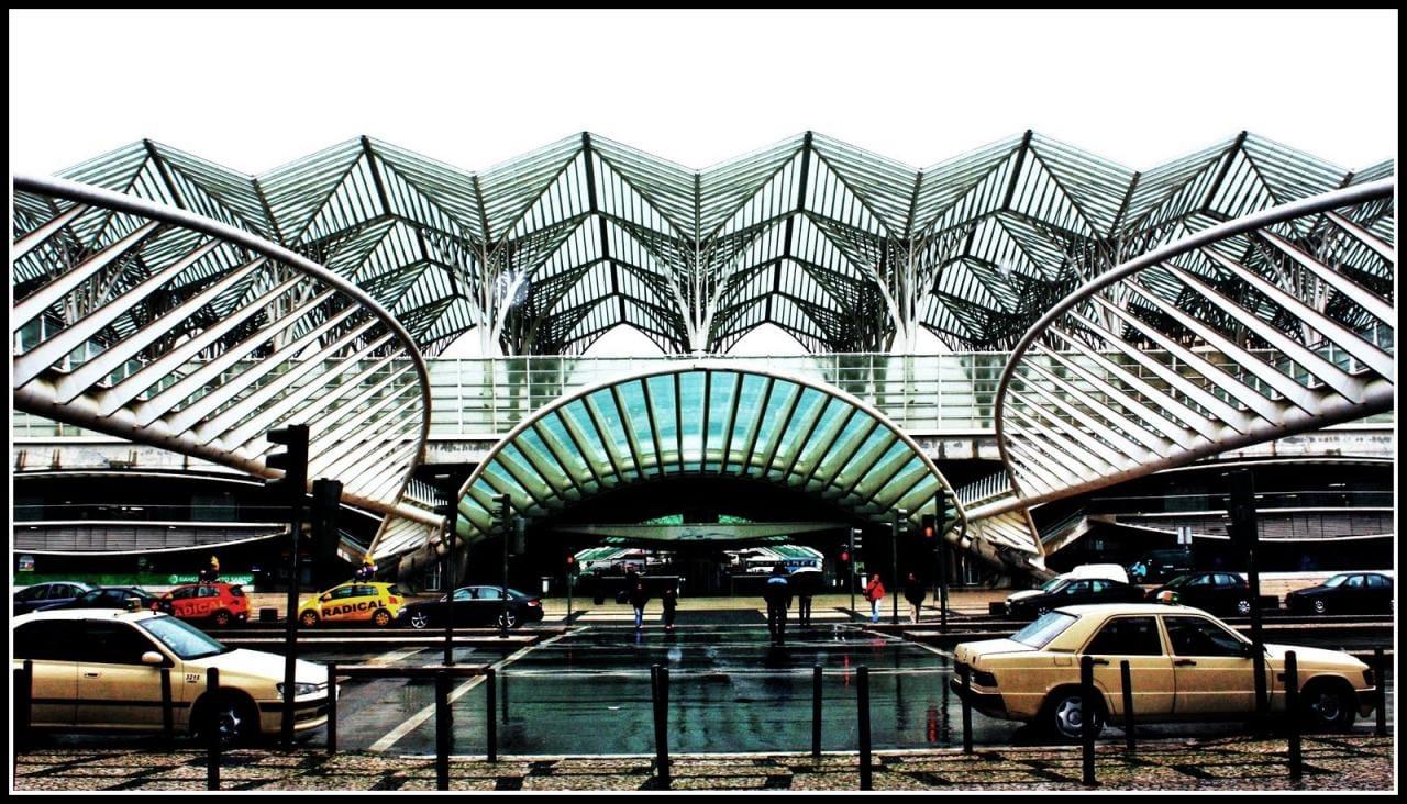 Orient Station, designed by the architect Santiago Calatrava. Lisbon, Portugal
