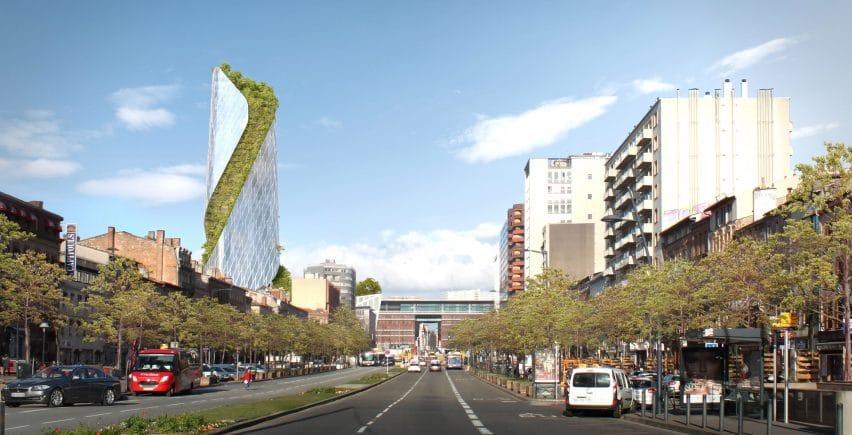 Ấn tượng trước công trình tháp xoắn thảm thực vật tại Pháp