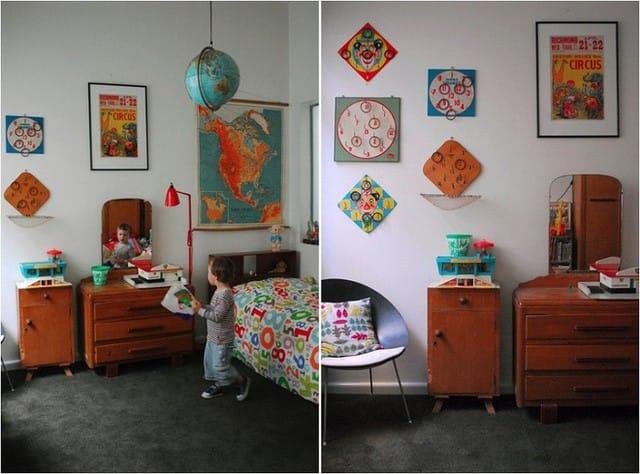 4. Để giúp phòng trẻ em có cảm giác gần gũi, bạn nên trang trí không gian bằng những đồ vật mộc mạc. Gỗ là một yếu tố mang lại sự ấm áp, tự nhiên mà bạn có thể tham khảo.