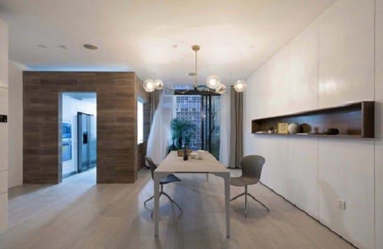 Phòng ăn đơn giản nhưng hiện đại và tinh tế.