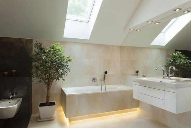 5. Cây xanh trong nhà tắm mang đến cảm giác tươi mát, khoan khoái, thoải mái bên trong căn phòng.