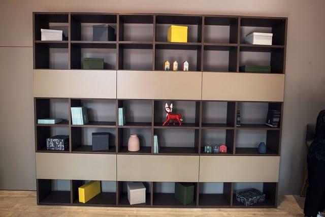 Một thiết kế hộp mở giá sách phù hợp cho những không gian nhà hiện đại.