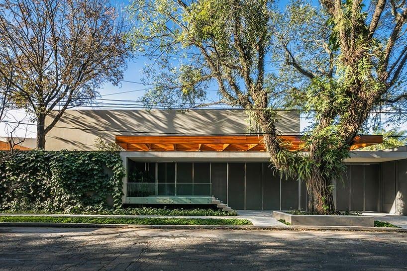 Ngôi nhà gây ấn tượng đặc biệt và thu hút mọi chú ý của người qua đường bởi thay vìp/được dựng dưới gốc cây hoặc trên các cành cây thì căn nhà được thiết kế bao trọn vẹn xung quanh cây xanh lớn.
