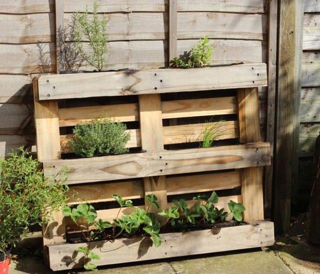 Bạn không cần quá nhiều dụng cụ để có được một thùng chứa những chậu cây nhỏ từ gỗ pallet. Nếu bạn có gỗ pallet, bạn sẽ chỉ cần búa, vài chiếc đinh để cố định những mẩu gỗ này lại với nhau.