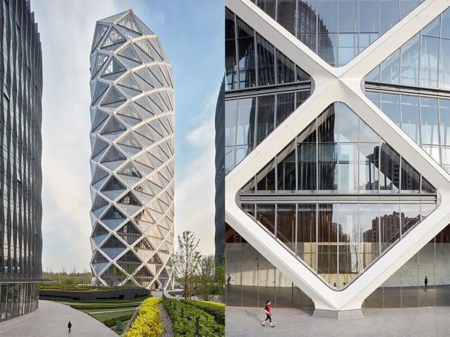Ngắm tòa nhà lồng kính lưới lập phương tại Bắc Kinh