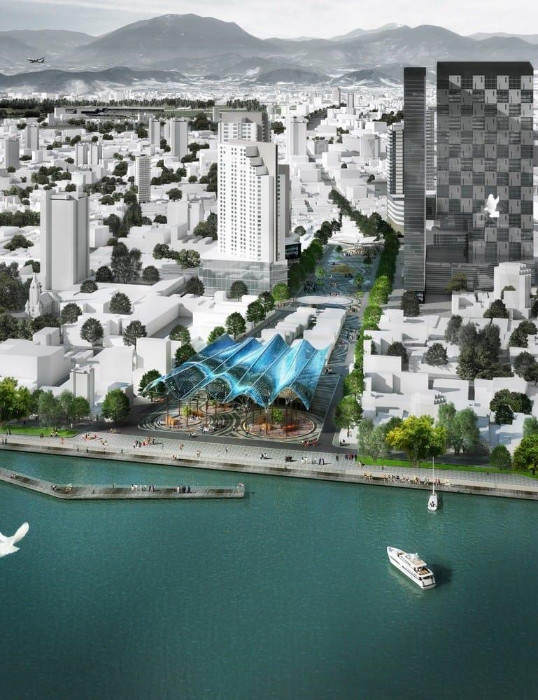 HUNI Architectes Win Competition to Design Lotus-Inspired Square in Vietnam,Courtesy of HUNI Architectes