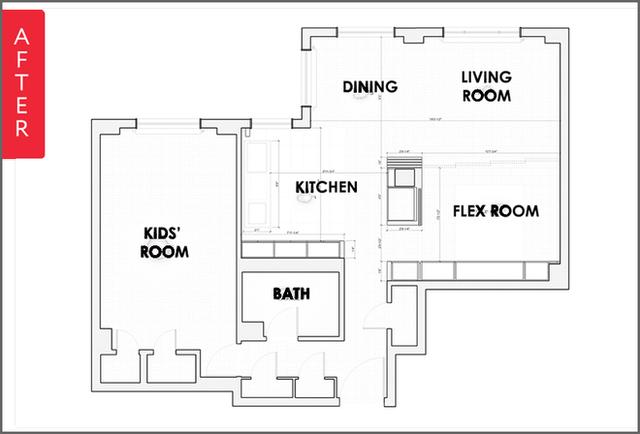 Sơ đồ căn hộ trước khi cải tạo