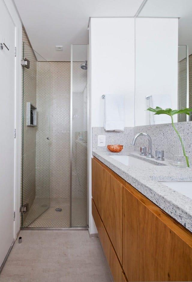 Không gian phòng tắm khá nhỏ những vẫn đáp ứng được nhu cầu sử dụng.