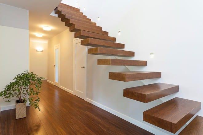 Cầu thang không tay vịn - kiểu cầu thang đẹp xuất sắc cho nhà hiện đại - Ảnh 1.