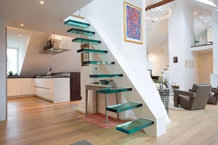 Cầu thang không tay vịn - kiểu cầu thang đẹp xuất sắc cho nhà hiện đại - Ảnh 5.