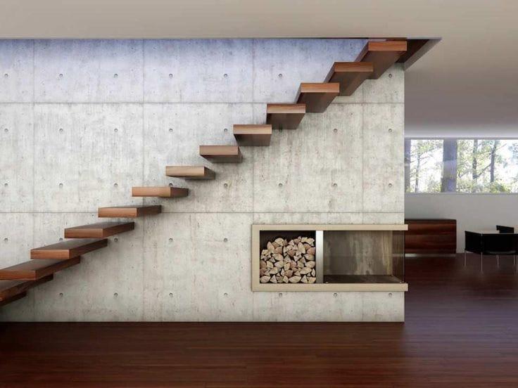 Cầu thang không tay vịn - kiểu cầu thang đẹp xuất sắc cho nhà hiện đại - Ảnh 2.