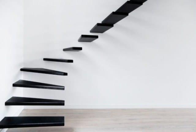 Cầu thang không tay vịn - kiểu cầu thang đẹp xuất sắc cho nhà hiện đại - Ảnh 3.