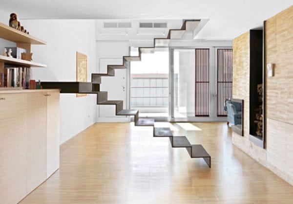 Cầu thang không tay vịn - kiểu cầu thang đẹp xuất sắc cho nhà hiện đại - Ảnh 7.