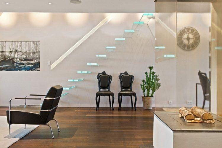 Cầu thang không tay vịn - kiểu cầu thang đẹp xuất sắc cho nhà hiện đại - Ảnh 4.