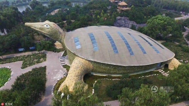 """Lạ đời tòa nhà hình con rùa khổng lồ mà nhìn xa cứ ngỡ """"cụ rùa"""" lên bờ - 3"""