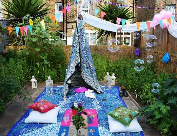 Góc sân vườn đón thu đẹp dịu dàng và lãng mạn khi được trang trí theo phong cách Bohemian - Ảnh 5.