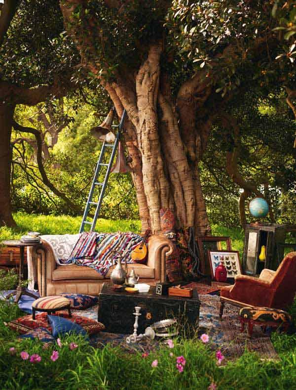 Góc sân vườn đón thu đẹp dịu dàng và lãng mạn khi được trang trí theo phong cách Bohemian - Ảnh 8.