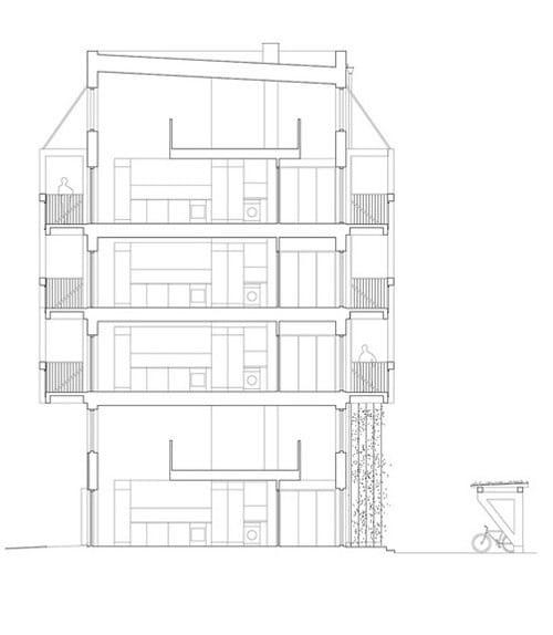 Chung cư 6 tầng chỉ dựng bằng gỗ