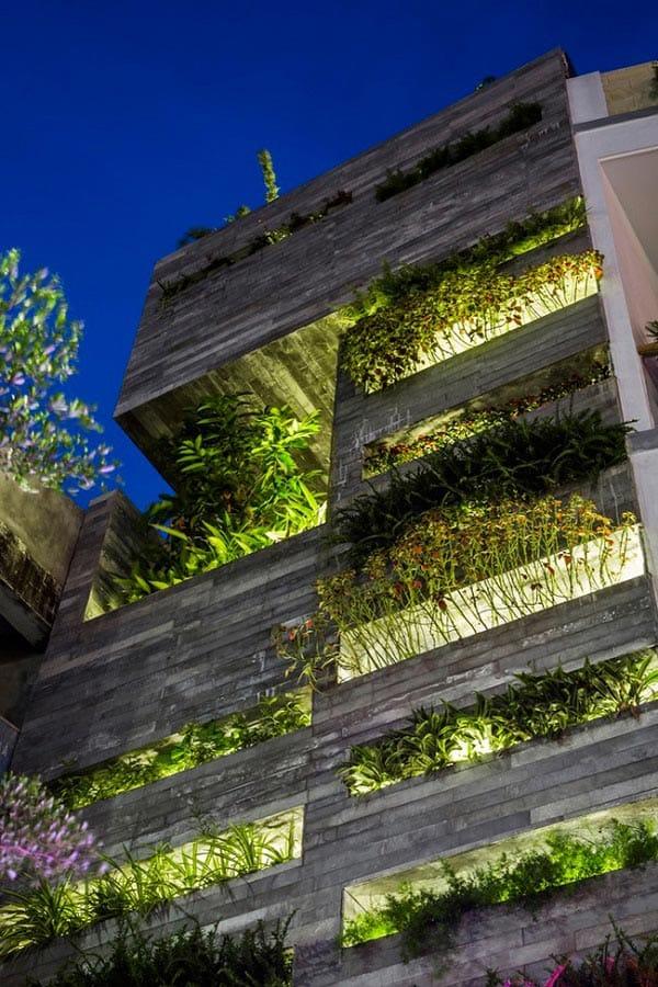 Nhà ống 4 tầng mà đẹp như resort nhờ cây xanh mọc khắp nhà - 1