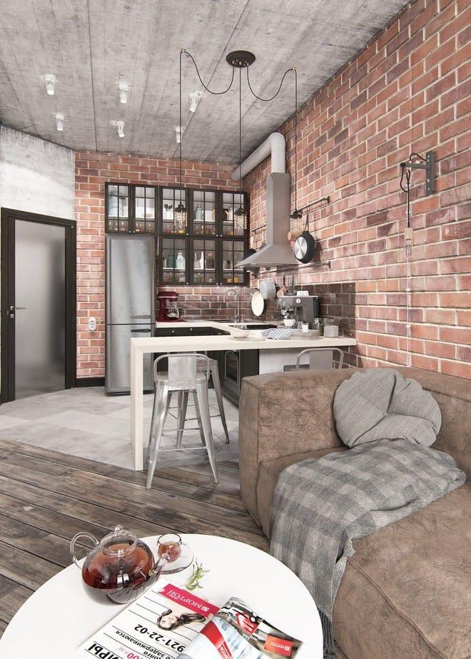 Hai căn hộ 35m² với phong cách trang trí công nghiệp nhưng lãng mạn đến khó tin - Ảnh 3.