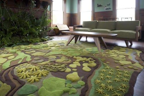 Nhà đẹp bất ngờ với thảm trải sàn
