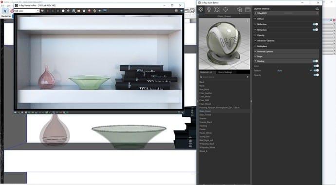 Hiển thị vật liệu trong viewport trung thực hơn