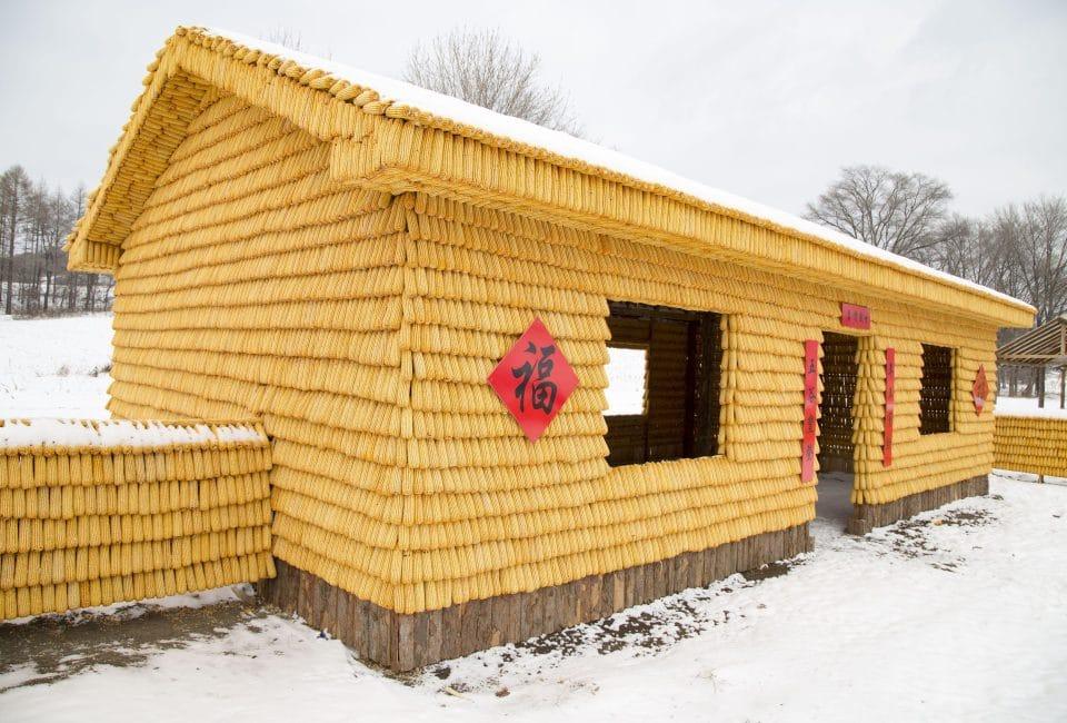 """Lão nông tự bỏ tiền xây nhà từ 30.000 bắp ngô vàng óng khiến dân tình """"choáng váng"""" - 3"""