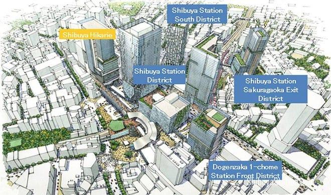 <strong>Tái xây dựng khu vực ga tàu Shibuya &#8211; Tokyo, Nhật Bản</strong>
