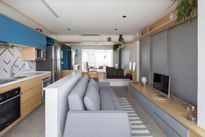 Nhà 38 m2 với căn phòng bí ẩn sau kệ tivi