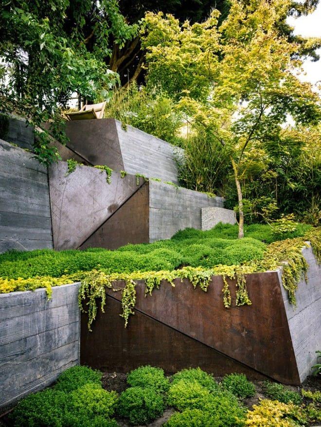 Sau cải tạo, sân vườn kiểu ruộng bậc thang này khiến ai cũng tròn mắt ngưỡng mộ - Ảnh 11.