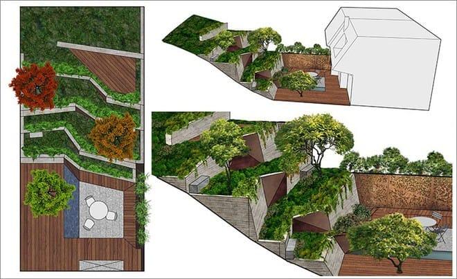Sau cải tạo, sân vườn kiểu ruộng bậc thang này khiến ai cũng tròn mắt ngưỡng mộ - Ảnh 15.