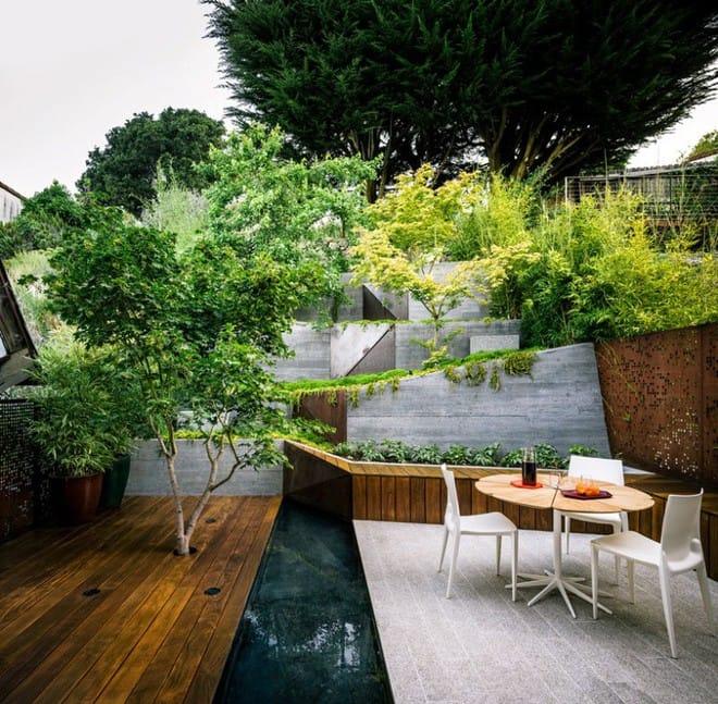 Sau cải tạo, sân vườn kiểu ruộng bậc thang này khiến ai cũng tròn mắt ngưỡng mộ - Ảnh 4.