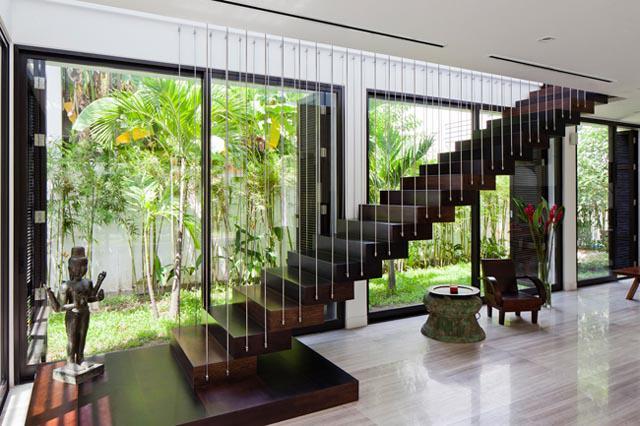 Thay tường thô cứng bằng vườn treo, biệt thự Việt đẹp ngỡ như ở trời Tây - 11