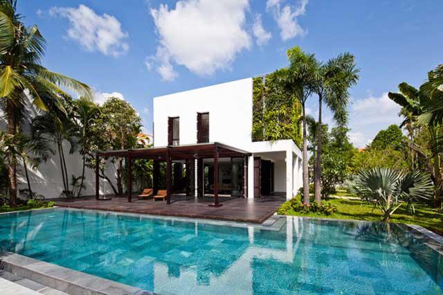 Thay tường thô cứng bằng vườn treo, biệt thự Việt đẹp ngỡ như ở trời Tây - 5