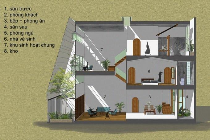 Ngôi nhà giống tổ kén trắng ở Nha Trang