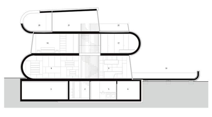 Ngôi nhà hình chữ S thu hút đến từng góc nhỏ