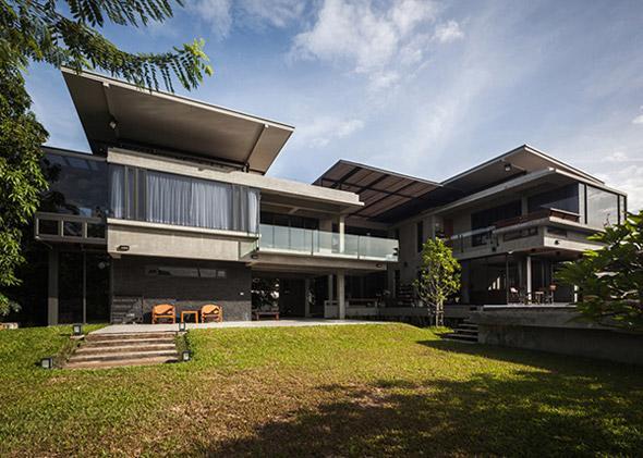 Biệt thự cho hai thế hệ được khen ngợi với kiến trúc đẹp như resort - 3