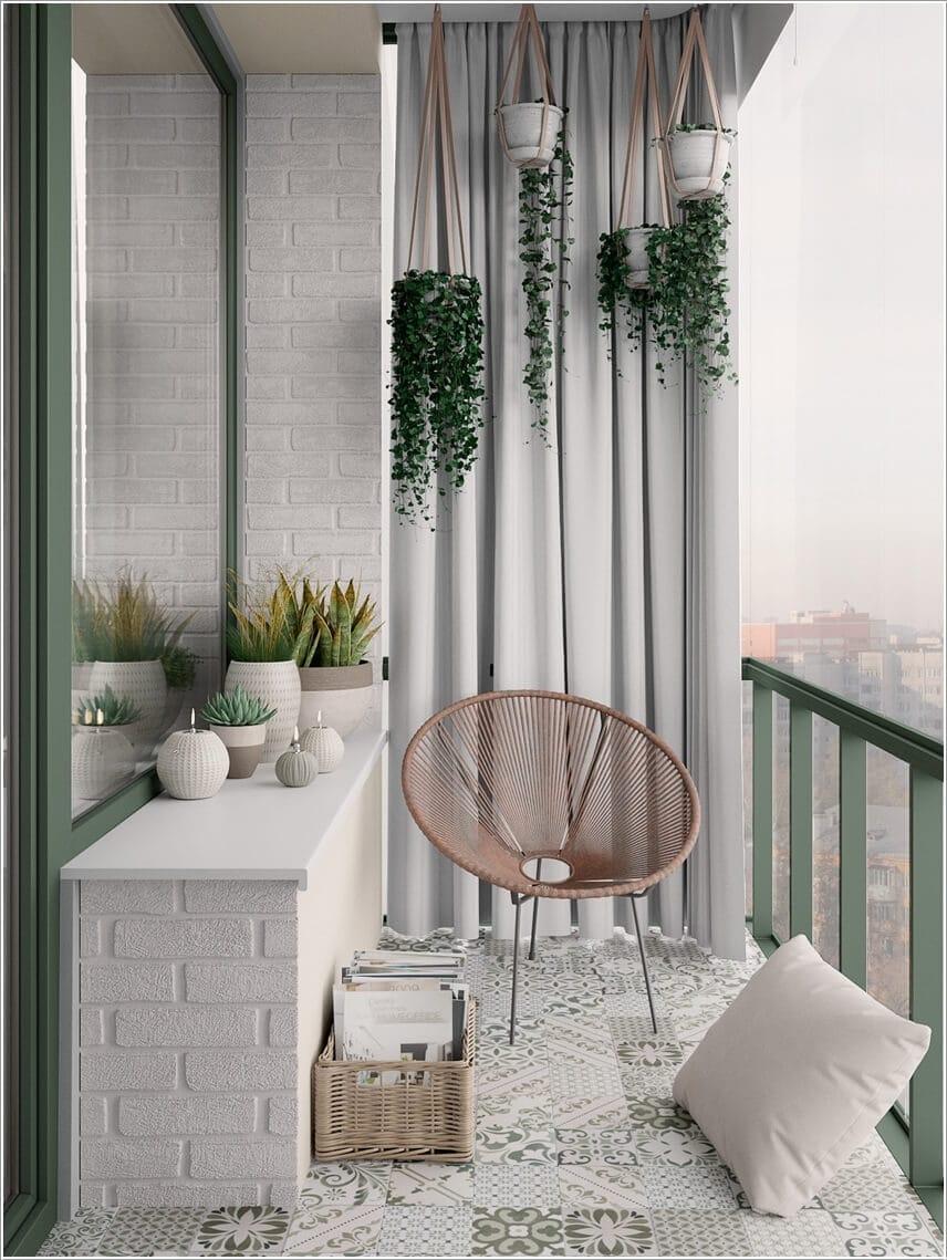 Ý tưởng thiết kế ban công nhỏ cho nhà đẹp