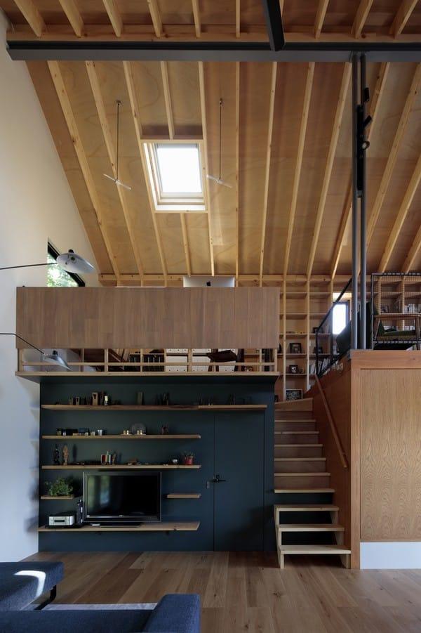 Hướng mắt lên bên trên, gia chủ có thể nhìn trọn không gian làm việc, thư thái trên tầng lửng.