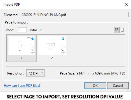 Chọn những trang muốn nhập, chọn giá trị độ phân giải DPI