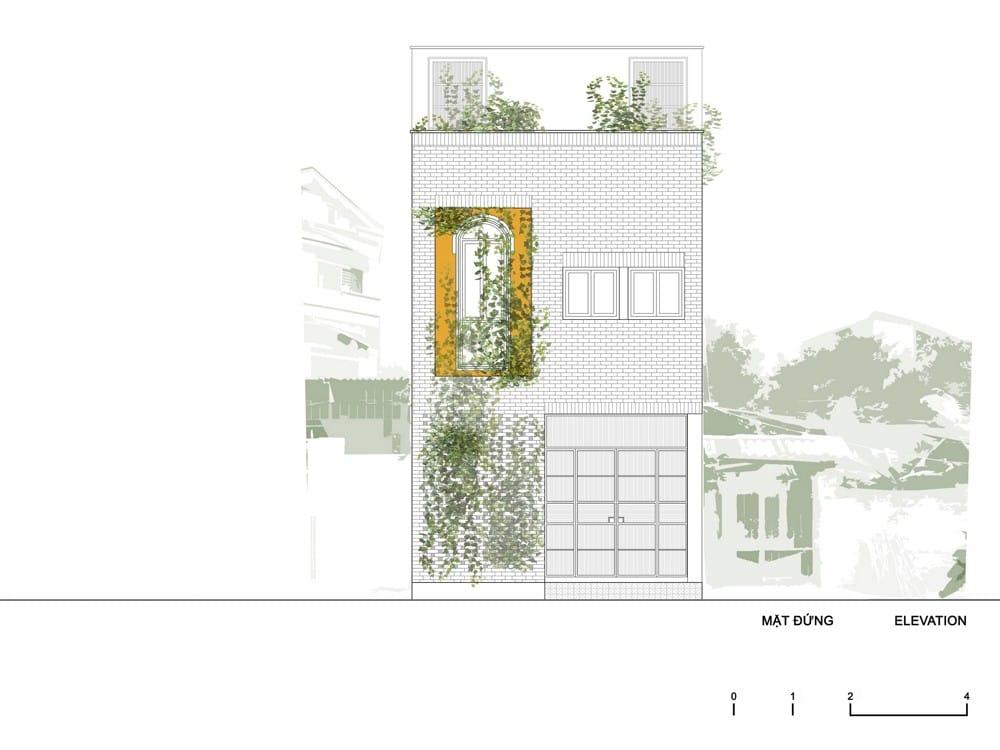 Mảnh đất méo xẹo 'hóa' thành căn nhà ngập ánh sáng
